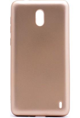 Kny Nokia 2 Kılıf Ultra İnce Mat Silikon+Cam Ekran Koruyucu