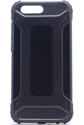 Kny Asus Zenfone 4 Ze554KL Kılıf Çift Katmanlı Armour Case+Cam Ekran Koruyucu