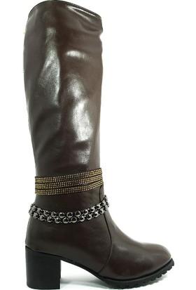 Guja Kadın Kışlık Uzun Çizme-Kahve-17k151-1-02