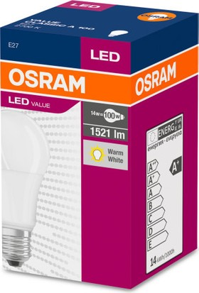 Osram 14.5 Watt 1521 Lumen E-27 Duy 2700K Sarı Işık Led Ampul 14.5W=100W