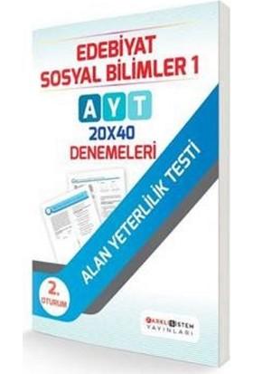 Farklı Sistem Yayınları AYT 2. Oturum Edebiyat Sosyal Bilimler 1 - 20X40 Denemeleri