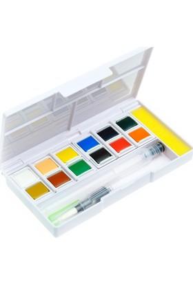12 Renk Tablet Sulu Boya + Fırça Hediyeli