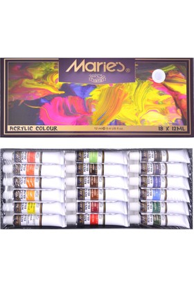 Maries Akrilik Boya Set, 18x12ml