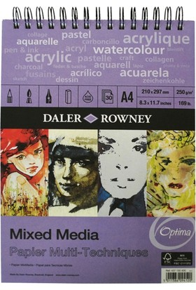 Daler Rowney Mixed Media A4, 250gr - 30 Yaprak