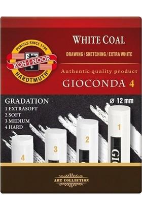Koh-i Noor Gioconda Kömür Füzen 4'lü Beyaz N:8692-4 Hard