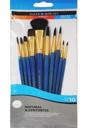 Fırça Seti - Doğal ve Sentetik Kıl - 10 lu Set