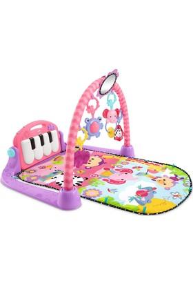 Haunger Babycim Piyanolu Oyun Halısı Çıngıraklı Aynalı Sakinleştiricili Pembe