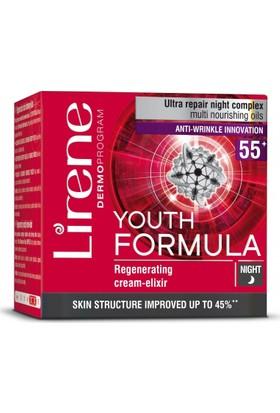 Lirene Youth Formula Yenileyici Gece Kremi İksir 55+ 50 Ml