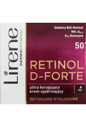 Lirene Retinol D-Forte 50+ 50 Ml Yoğun Yapılandırıcı Gece Krem