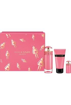 Prada Candy Gloss Edt 80Ml+7Ml+Body Losyon 75Ml Bayan Parfüm Seti
