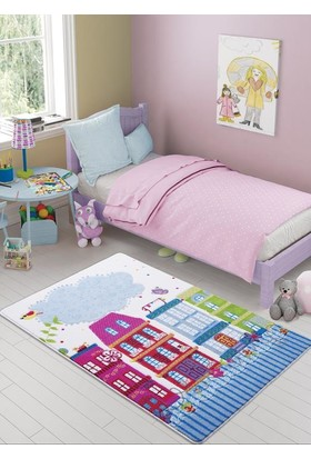 Confetti Sweet Home 133X190 Pembe Oymalı Halı