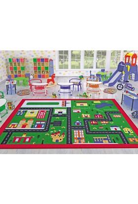 Confetti Town 133X190 Cm Yeşil Çocuk Halısı