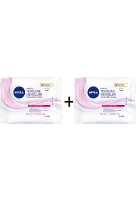 Nivea Yüz Göz Dudak Makyaj Temizleme Mendilleri 2Li Avantaj Paket