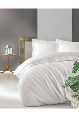 Cotton Box Elegant %100 Pamuk Saten Çift Kişilik Nevresim Takımı Beyaz