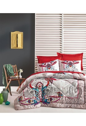 Cotton Box Çift Kişilik Pamuk Saten Uyku Seti Anita Bej
