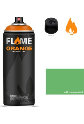 Flame Orange 400Ml Sprey Boya N:667 Crazy Menthol