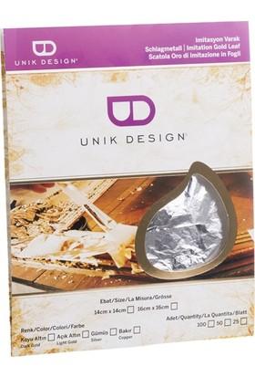 Unik Design Imitasyon Varak 14X14Cm 25'Li Gümüş