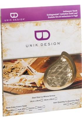 Unik Design Imitasyon Varak 14X14Cm 25'Li Koyu Altın
