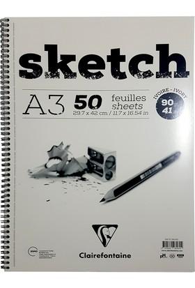 Clairefontaine Esquisse Sketch Ivory, Eskiz Defteri 50 Yaprak 90 Gr A3