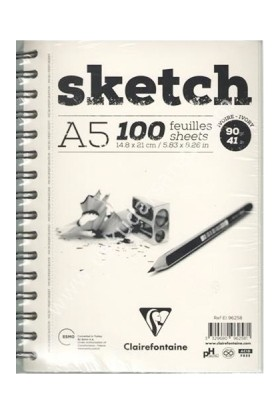 Clairefontaine Esquisse Sketch Ivory, Eskiz Defteri 100 Yaprak 90 Gr A5