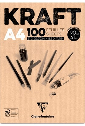 Clairefontaine Kraft Çizim Blok 100 Yaprak A4 90Gr