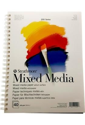 Strathmore Mixed Media Çok Amaçlı Resim Defteri A4 - 160Gr. - 40 Yaprak