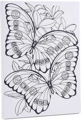 Desenli Tuval 30X40Cm Kelebekler