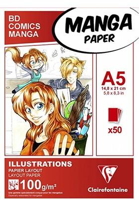 Clairefontaine Manga Kağıdı 50 Yaprak 100 Gr A5