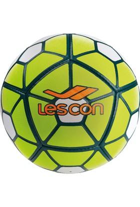 Lescon La-2569 Fosfor Yeşil Futbol Topu Crystal 5 Numara