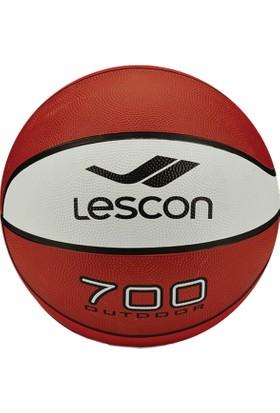 Lescon La-2525 Turuncu Beyaz Kahverengi Basketbol Topu 8 Panel 7 Numara