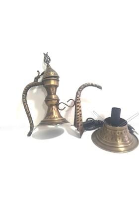 Handicraft Lamps Su Kabağı Lambalarınız İçin Metal İbrik Aparatı