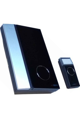 Kablosuz Kumandalı Dekoratif Siyah Gri Kapı Zili 32 Melodili