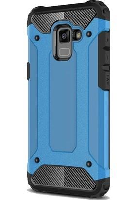 KılıfShop Samsung Galaxy A8 2018 Rugged Ar Kılıf + Cam Ekran Koruyucu