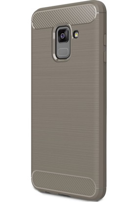 KılıfShop Samsung Galaxy A8 Plus 2018 Romm Silikon Kılıf + Cam Ekran Koruyucu