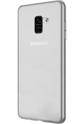 KılıfShop Samsung Galaxy A8 2018 Silikon Kılıf + Tam Cam Ekran Koruyucu