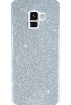 KılıfShop Samsung Galaxy A8 Plus 2018 Shinnig Silikon Kılıf + Nano Ekran Koruyucu