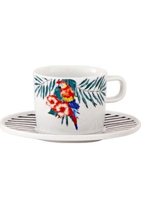 Güral Porselen Atina Çay Fincanı Ve Tabağı