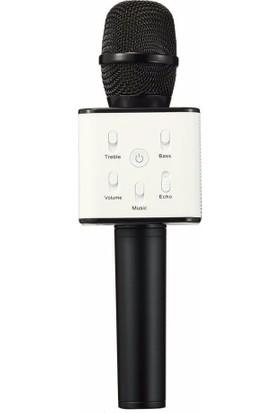 Case 4U Karaoke Mikrofonu Taşınabilir Hoparlörlü ( Bluetooth ve Aux Giriş Destekli ) - Siyah