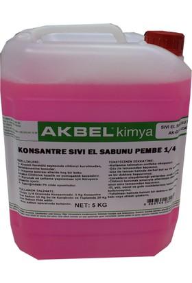 Akbel Sıvı El Sabunu Konsantre 1/4 Pembe 5 Kg