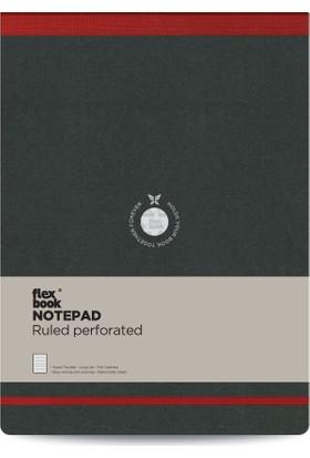 FlexBook 41 Esnek Bloknot 21x28 cm Kırmızı Şeritli Çizgili