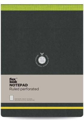 FlexBook 42 Esnek Bloknot 21x28 cm Yeşil Şeritli Çizgili