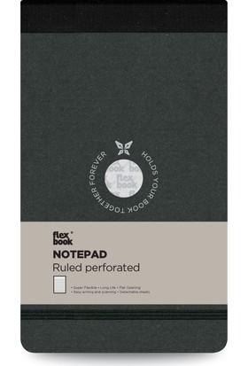 FlexBook 46 Esnek Bloknot 10x17 cm Siyah Şeritli Çizgili