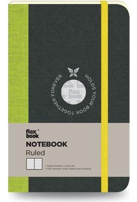 FlexBook 17 Esnek Not Defteri 9x14 cm Yeşil Şeritli Çizgili