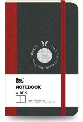 FlexBook 9 Esnek Not Defteri 9x14 cm Kırmızı Şeritli Çizgisiz