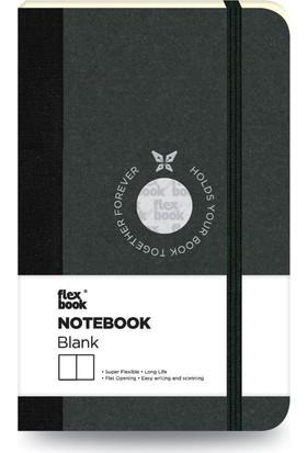 FlexBook 7 Esnek Not Defteri 9x14 cm Siyah Şeritli Çizgisiz