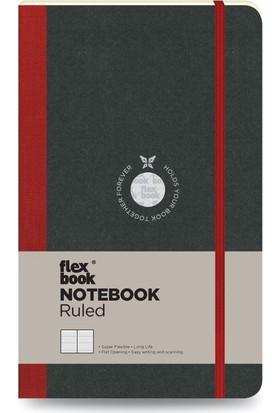 FlexBook 15 Esnek Not Defteri 13x21 cm Kırmızı Şeritli Çizgili