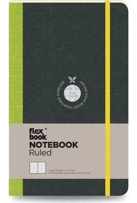 FlexBook 14 Esnek Not Defteri 13x21 cm Yeşil Şeritli Çizgili