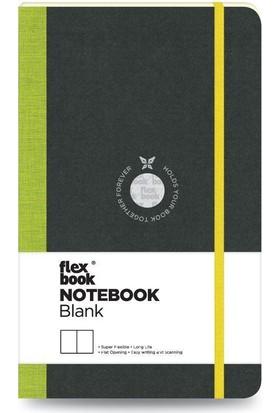 FlexBook 5 Esnek Not Defteri 13x21 cm Yeşil Şeritli Çizgisiz