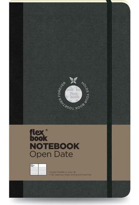 FlexBook 22 Esnek Not Defteri 13x21 cm Siyah Şeritli Tarihli Çizgili