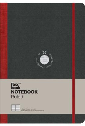 FlexBook 12 Esnek Not Defteri 17x24 cm Kırmızı Şeritli Çizgili